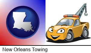New Orleans, Louisiana - a yellow tow truck
