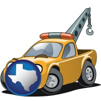 texas a yellow tow truck